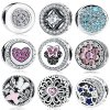 925 Sterling Silver Minnie Charms Bow Knot Minnie Cartoon Bead Fit Bracelets & Jewelry Making