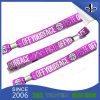 Cheap Price Custom Woven Fabric Wristband with Plastic Lock