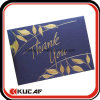 Embossing Hot Stamping Pearl Paper Thank You Card with Envelope
