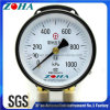 Double Pointer Double Pipe Pressure Gauge with Double Connector