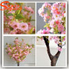 Indoor Decoration Artificial Mini Silk Cherry Blossom Tree