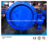 DIN/API Gearbox Double Flanged Eccentric Butterfly Valves
