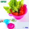 Skid-Proof Food Grade Silicone Bowl Washing Basin with Two Handles