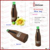 Coffee 1 Bottle Imitation Leather Wine Bag with Zipper (6151R10)
