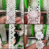 Thin White Dying Trimming Lace Sample Free Garment Accessories for Wedding Gown