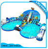 Underwater World Theme Inflatable Land Moving Water Park with Slide and Pool for Sale