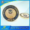 Hot Sale Fashion Custom Brass Gold Plated Commemorative Coin (XF-CO15)