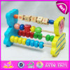 2015 Intelligence Toy Wooden Abacus for Kids, Wooden Toy Bear Abacus for Children, Hot Selling 5 Racks Wood Abacus Toy QQ-6022[1]