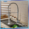 Brushed Nickel Commercial Kitchen Faucet Mixer Pull out