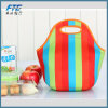 Portable Stripe Neoprene Lunch Bag Insulated Food Hand Tote