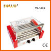Professional Snack Equipment 9 Roller Electric Hot Dog Sausage Grill with Glass Cover