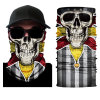Elastic Seamless Moisture Wicking Neck Gaiter Headband Custom Skull Scarf Silk