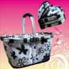 Aluminum Handle Food and Drink Cooler Folding Shopping Basket
