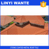 Low-Cost Roofing Material Stone Coated Metal Roof Tile