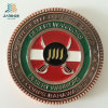 Custom Souvenir Logo Antique Bronze Metal Commemorate Coin for Military Police