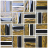 Dark Emperador Mix Lighted Color Marble Stone Mosaic
