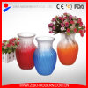 Colored Glass Vases Semi-Color Sprayed Cheap Colored Glass Flower Vase