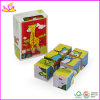 2014 New Kids Wooden Cube Puzzle, Popular Children Cube Puzzle and Hot Selling Wooden Baby Block Cubic Puzzle W14f016
