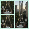 Bontek 9mm Thick Glass Beaker Smoking Pipe with Barrel Perc