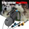 Fashion Design New Dual Doggie Retractable Walking Leash Maker
