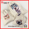 Cat Cotton Canvas Drawstring Bag Set for Travel