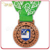Custom 2D Design Antique Copper Finish Metal Medal