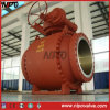Cast Steel Wcb Big Size Flanged Trunnion Ball Valve