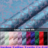Reactive Dying Crepe Jacquard Silk for Silk Dress Fabric