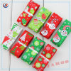 100% Polyester Grosgrain Ribbon with Plain Foil Print Ribbon for Christmas