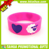 Hot Sell Pink Cute Silicone Bracelet with Deboss Color-Filled (DSC05228)