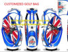 Custom Luxury Nylon and Leather Golf Caddie Bags