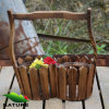 Garden Wood Basket Shaped Flower Planter