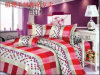 Hot Sale Poly Fashion Bed Sheet 7 PCS Bedding Set