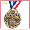 Custom Embossed Antique Bronze Plated Medal