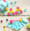 Girl′s Flowers Printed Accessories Swimming Suit, Lace Lovely Bikini Swimming Wear