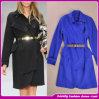 Women Fashion High-End Lace-up Dust Coat