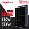 China High Efficiency Longi Bi-Perc Double Glass Double Electric Mono Solar Panel 350W
