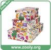 Multi-Purpose Paper Foldable Storage Box / Folding Paper Box with Metal Corner