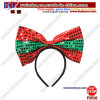 Holiday Bow Sequin Headband Christmas Gifts Hair Jewelry for Birthday Party Gift (P2016)