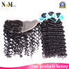 Peruvian Deep Wave with Closure 13X4 Ear to Ear Lace Frontal Closure with Bundles 6A Virgin Human Hair 3 Bundles with Closure