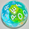 OEM Sell Glitter Bounce Crystal Toy Ball Flashing Water Bounce Ball