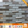 Balcony Wall Stone, Stainless Steel and White Glass Mosaic (M855058)