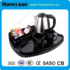 Ss Electric Kettle with Melamine Tray for Hotels