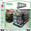 Steel Supermarket Shelf Black Color Retail Store Shop Shelving