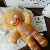 Plush Christmas Ginger Toy Baby Appease Doll Giant Throw Pillow Cushion Creative Holiday Home Decor Toys for Children Biscuits