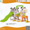 Indoor Plastic Panda Swing and Slide for Kids
