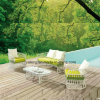 Popular Design Good Price Outdoor New Outdoor Garden Sofa Set with Coffee Table (YT893)