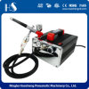 HS- 216k Gravity Airbrush Air Compressor Set Kit Dual-Action Hobby Cake Art Airbrush Compressor Kit