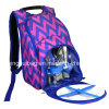 Pattern Picnic Backpack for 2 Persons with Cooler Compartment and Tableware