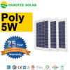 Small 25 Years Warranty 6V 12V 5W 5 Watt Solar Panel